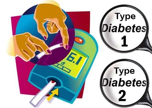 1 и 2 тип диабета