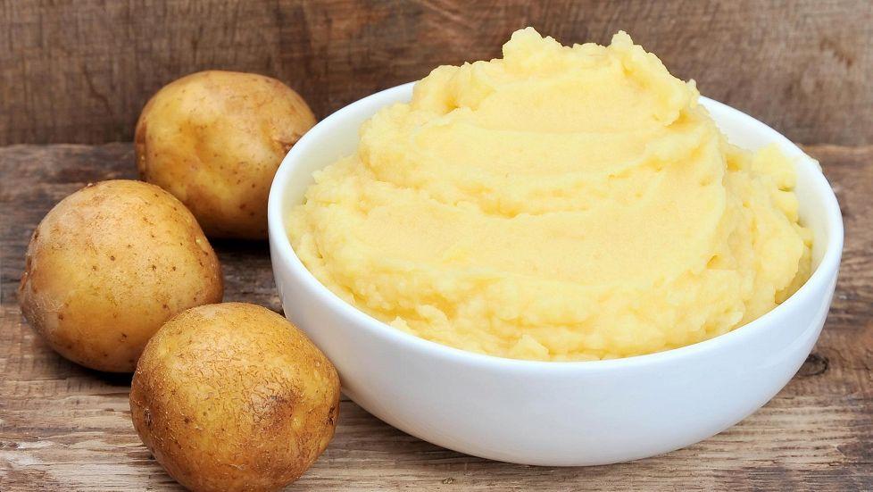 Пюре из отварного картофеля